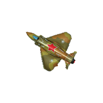 Military Army Plane Mini Shape Foil Balloon