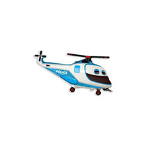 Police Helicopter Mini Shape Foil Balloon