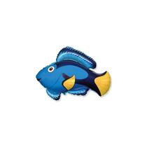 Blue Fish Mini Shape Foil Balloon
