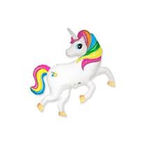 """Rainbow Unicorn 14"""" Mini Shape Foil Balloon"""