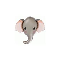 Elephant Head Mini Shape Foil Balloon