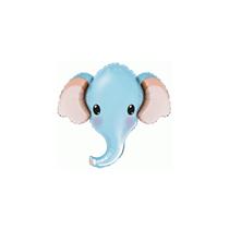 Baby Blue Elephant Head Mini Shape Foil Balloon