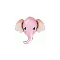 Baby Pink Elephant Head Mini Shape Foil Balloon