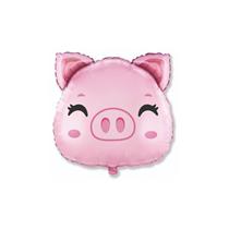 """Pig Head 8"""" Mini Shape Foil Balloon"""