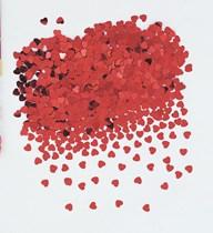 Red Foil Heart Metallic Contfetti 14g