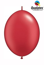 """6"""" Pearl Ruby Red Quick Link Latex Balloons - 50pk"""