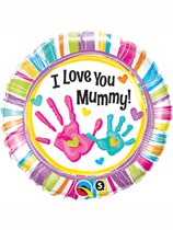 """Mother's Day I Love You Mummy! 18"""" Foil Balloon"""