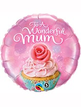 """Mother's Day To a Wonderful Mum 18"""" Foil Balloon"""