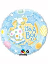 "18"" It's a Boy Giraffe Foil Balloon"