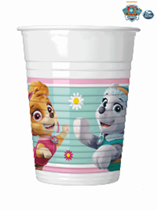 Paw Patrol Pink 200ml Plastic Party Cups 8pk