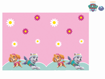 Paw Patrol Pink Plastic Party Tablecover