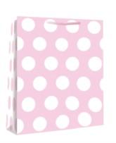 Large Pink Polka Dot Gift Bags 6pk