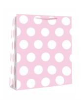 Medium Pink Polka Dot Gift Bags 6pk