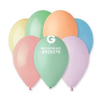 "Gemar Macaron Pastel Assorted 11"" Latex Balloons 100pk"