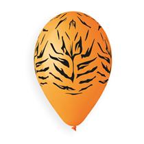 "Tiger Print Orange 12"" Latex Balloons 50pk"