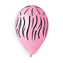 "Zebra Print Pink 12"" Latex Balloons 50pk"