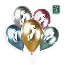 "Shiny Unicorn Printed 12"" Latex Balloons 25pk"