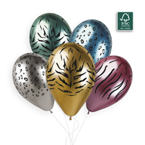 "Gemar Shiny Animal Print 12"" Latex Balloons 25pk"