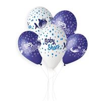 """Baby Shark White & Blue 11"""" Latex Balloons 50pk"""