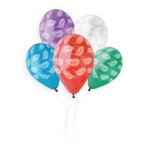 """White Feathers On Crystal 13"""" Latex Balloons 50pk"""