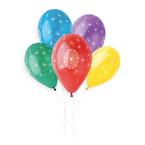 "Dandelion Printed Crystal 13"" Latex Balloons 50pk"