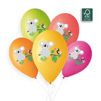 """Koala Colour Printed 13"""" Latex Balloons 50pk"""