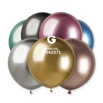 "Gemar Shiny Assortment 1.5ft (19"") Latex Balloons 25pk"