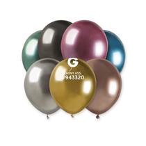 "Gemar Shiny Assortment 5"" Latex Balloons 50pk"