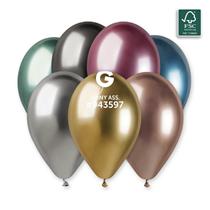 "Gemar Shiny Assortment 12"" Latex Balloons 25pk"