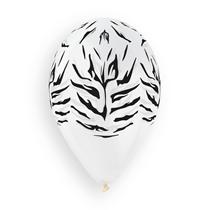 "Tiger Print Clear 12"" Latex Balloons 50pk"