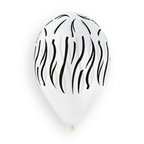 "Zebra Print Clear 12"" Latex Balloons 50pk"