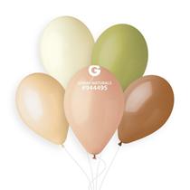 """Gemar Naturals 11"""" Assortment Latex Balloons 100pk"""