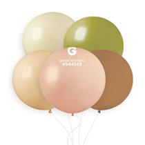 """Gemar Naturals 31"""" Assortment Latex Balloons 10pk"""