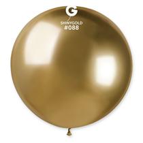 "Gemar Shiny Gold 2.5ft (31"") Latex Balloons 5pk"