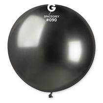 "Gemar Shiny Space Grey 2.5ft (31"") Latex Balloons 5pk"