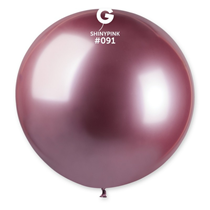 "Gemar Shiny Pink 2.5ft (31"") Latex Balloons 5pk"