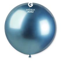 "Gemar Shiny Blue 2.5ft (31"") Latex Balloons 5pk"