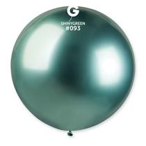 "Gemar Shiny Green 2.5ft (31"") Latex Balloons 5pk"