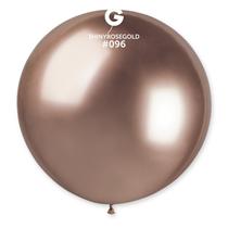 "Gemar Shiny Rose Gold 2.5ft (31"") Latex Balloons 5pk"