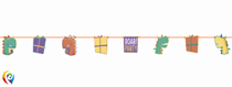 Dinosaur Party Cut Out Paper Banner