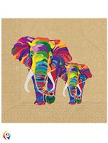 Wildlife Rainbow Elephant 2-ply Paper Napkins 20pk