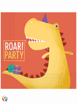 Dinosaur Birthday Party Paper 2-ply Napkins 20pk