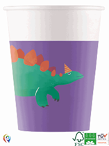 Dinosaur Birthday Party 200ml Paper Cups 8pk
