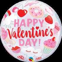 """Valentine's Day Everything Valentine 22"""" Bubble Balloon"""