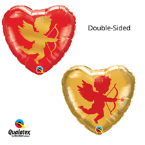 """Valentine's Day Cupid Double Sided 18"""" Foil Balloon"""