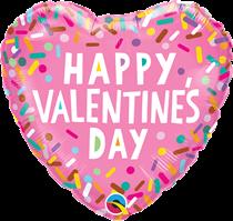 "Valentine's Day Pink Sprinkles 18"" Foil Balloon"