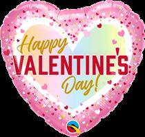 """Valentine's Day Confetti Ombre 18"""" Foil Balloon"""