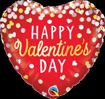"""Valentine's Day Confetti 18"""" Heart Foil Balloons"""