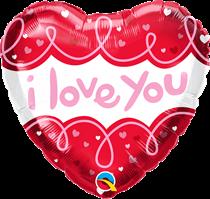 "Valentine's Love You Doodles 18"" Foil Balloon"