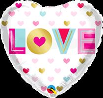 "Valentine's Love Metallic Hearts 18"" Foil Balloons"